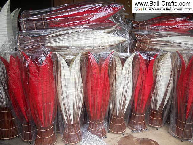 cclmp2 Coconut Ribs Lamp Shades Bali Indonesia