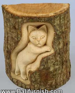 Tree Trunk Wood Carvings