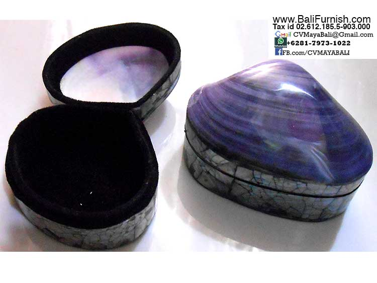 BCSHL1-2 Sea Shell Trinket Boxes Bali