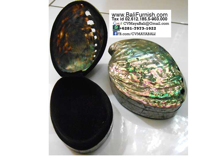 BCSHL1-3 Abalone Shell Trinket Boxes