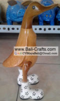 Bamboo Duck with Shoes