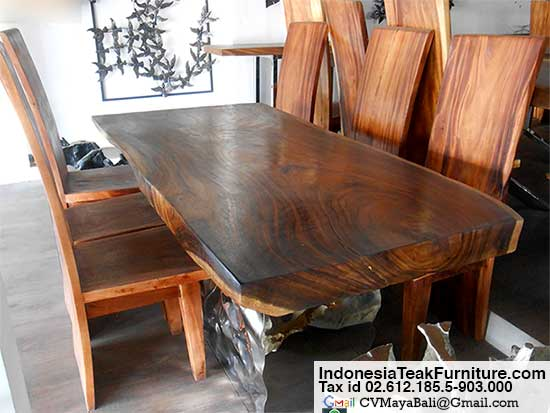 Dining Table BaliCraftscom - Indonesian teak dining table