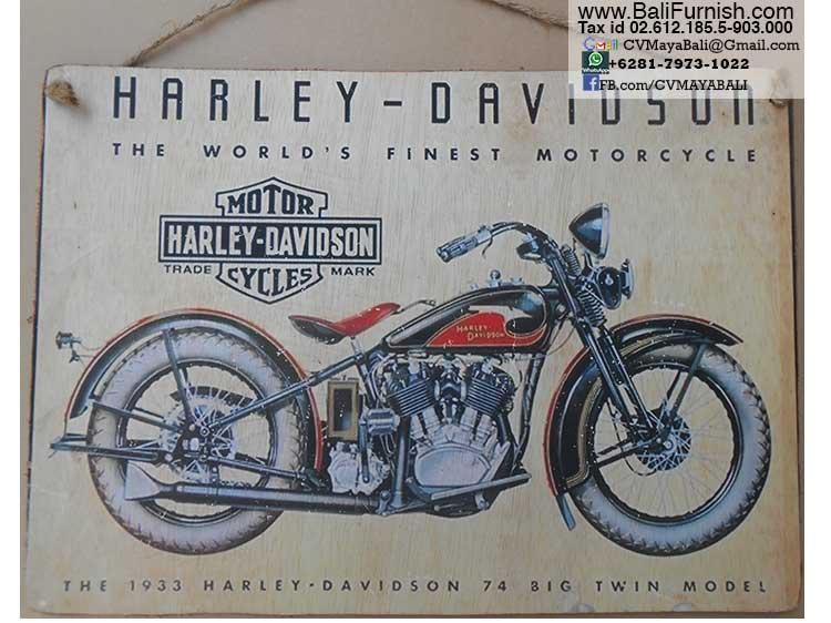 Harley Davidson Vintage Wood Signs Bali Indonesia