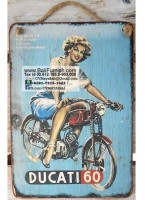 Old Ads Signs On Wood Plaque from Bali Indonesia