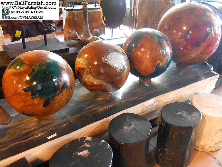 Teak Wood Resin Balls Bali Indonesia