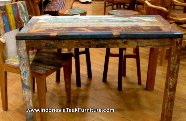 Beau Reclaimed Boat Wood Furniture Table From Bali Indonesia U2013 Bali Crafts.com