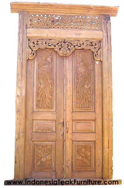 Teak Wood Entrance Doors Gateways Indonesia Bali Crafts Com