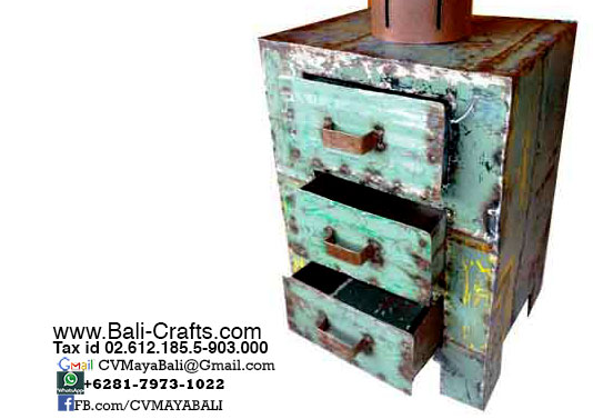 Oildrm1-11 Upcycled Oil Drum Furniture Drawers