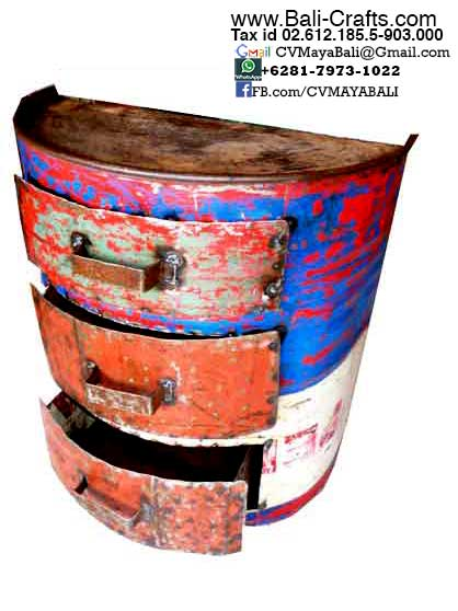 Oildrm1-12 Repurposed Oil Drum Furniture Bali Indonesia