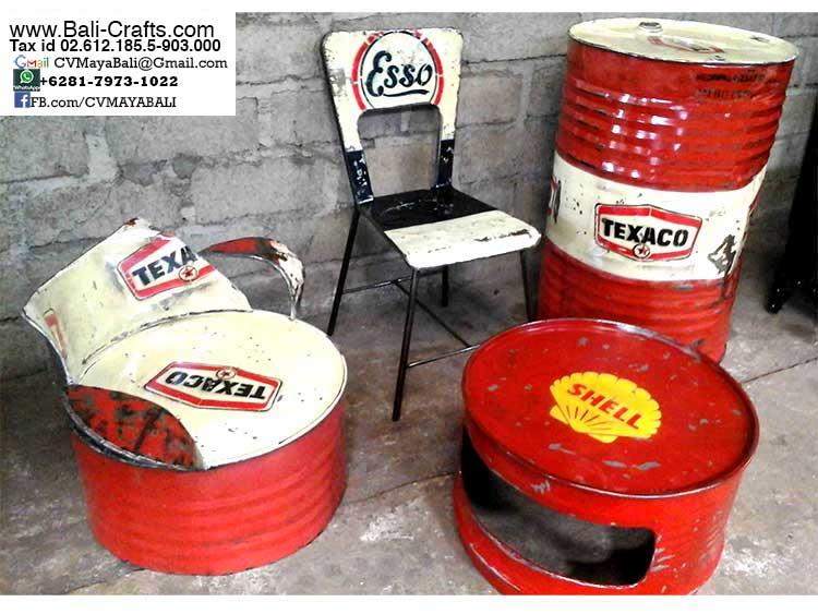 drum furniture. Oildrm1-2 Recycled Oil Drum Furniture