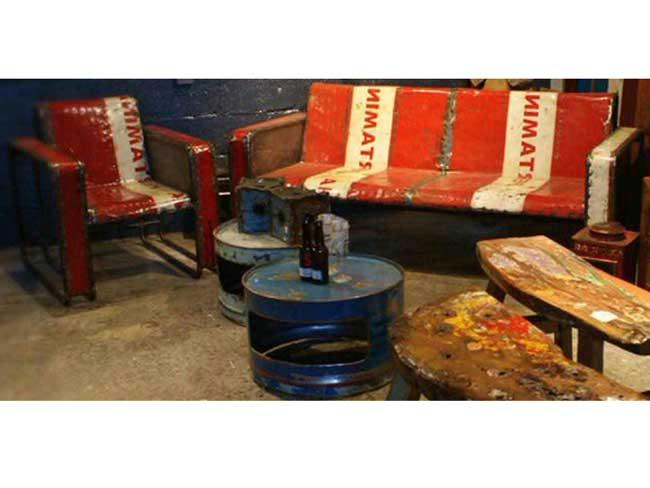 Oildrm1 20 Recycled Metal Oil Barrel Furniture Bali Indonesia