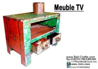 Oildrm1-8 Recycled Oil Drum Furniture Tv Cabinet