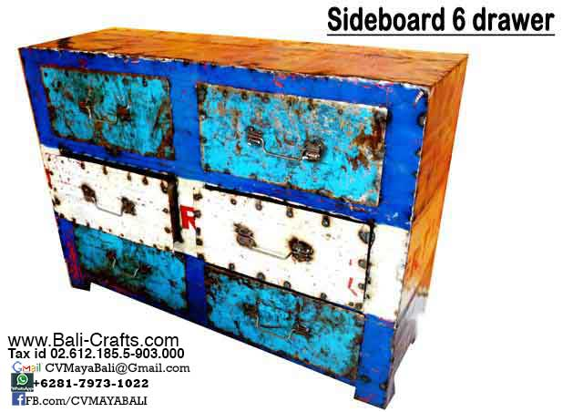 Oildrm1-9 Upcycled Oil Drum Furniture Sideboard