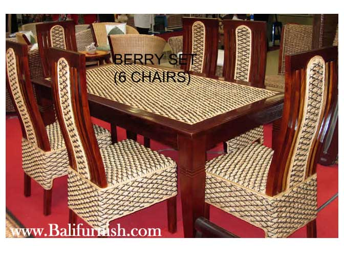 Water Hyacinth Rattan Dining Furniture Indonesia