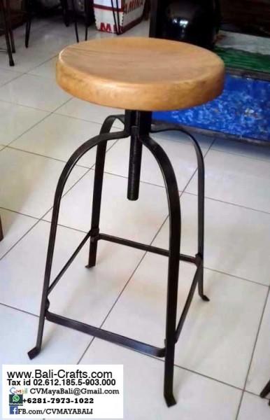 Bftml1 6 Bar Stools Counter Stools Teak Steel Furniture