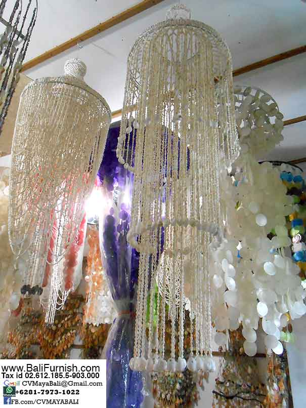 Bali sea shells bali crafts seashell chandelier wholesale from bali indonesia mozeypictures Images