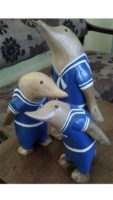 Animal Wood Carvings Dolphins Penguins Bali Indonesia