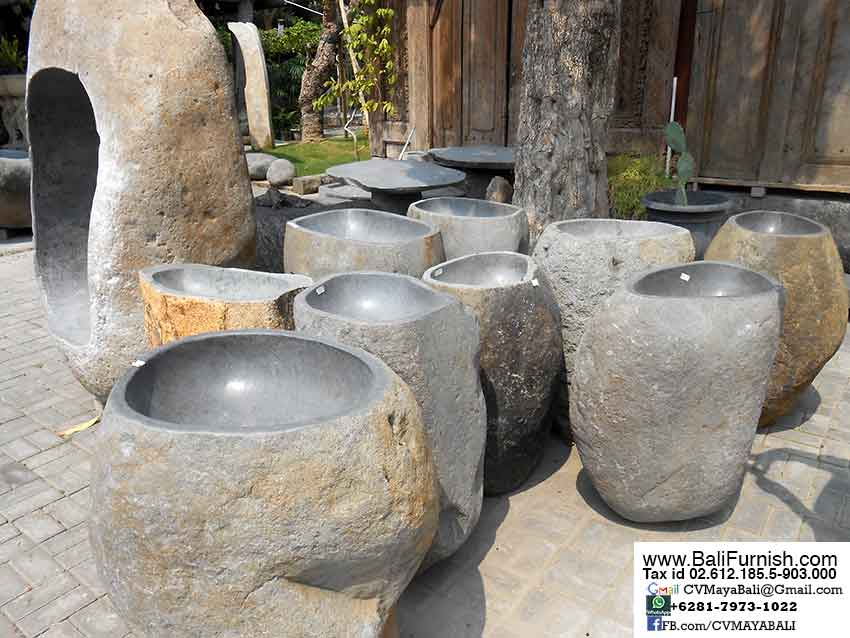 Riverbed Stones Candle Holders Bali Indonesia Natural Stone Pedestal Sinks  Bali Indonesia